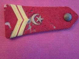 """Militaria Fourreau D´épaule Du 1er Régiment De Tirailleurs Grade """"or""""=>rouge/beige Armée D´Orient France Croissant /lune - Equipement"""