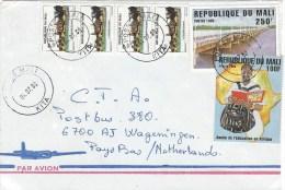 Mali 2000 Kita Bridge Education Year Mopti Mosque 5f Cover - Mali (1959-...)