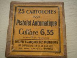 Petite Boite En Carton Pour 25 Cartouches 6,35 - 1914-18