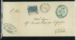 I. REGNO -  SEGRETERIA MUNICIPALE DI VETRALLA N° 27-  ANNO 1876  # 651 ANNULLO NUMERALE - NUMBER CANCELLED - Marcophilie