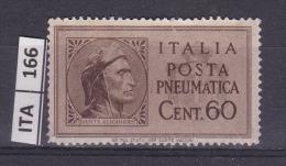 ITALIA, 1945, Posta Pneumatica, 60 Cent, Nuovo - 5. 1944-46 Lieutenance & Umberto II