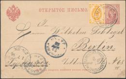 Russia 1896 Stationery Postcard Vladivostok Via Nagasaki & Yokohama Japan To Berlin, Nice Pre-Transiberia Railway (2622) - 1857-1916 Empire
