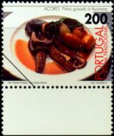 FOOD-DUST ACORDES Açoriana STEW-COOKED OCTOPUS-SPECIMEN-PORTUGAL-1997-MNH-B6-880 - Ernährung