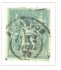 Timbre Oblitéré - 1876 - France - Y&T 75 Type I - Groupe Allégorique Paix Et Commerce - Valeur Faciale 5c - 1876-1878 Sage (Type I)