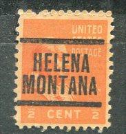 U.S.A. - Préoblitéré - Precancel - HELENA - MONTANA - Préoblitérés