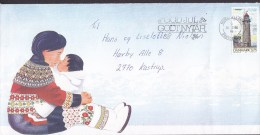 Denmark HILLERØD 1996 Cover Brief W. Christmas Seal Lighthouse Leuchtturm Pfare Stamp Greenland Woman & Child Cachet !! - Dänemark