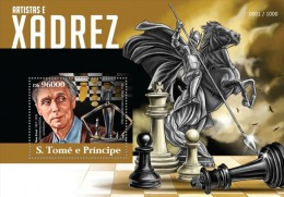 S. Tome&Principe. 2015 Chess In Art. (416b) - Schach