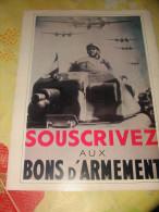 """Propagande """"Souscrivez Aux Bons D´armement""""  Tankiste  Guerre 1939/1945 - 1939-45"""