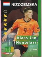 SOCCER TRADING CARDS, EURO STARS (Croatia) No 74/256, Netherlands - Klaas-Jan Huntelaar - Trading Cards