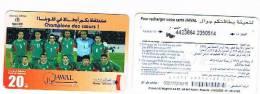 MAROCCO (MOROCCO) - MAROC TELECOM JAWAL GSM RECHARGE: FOOTBALL (CHAMPION DES COEURS)- USED-RIF.2547 - Marocco