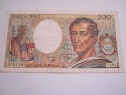 ---------------------1 Billet 200 Francs Montesquieu-1991---Y.091-qualite-TTB - 1962-1997 ''Francs''