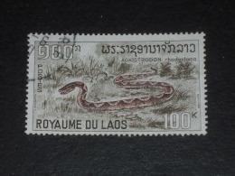 LAOS LAO YT 169 OBLITERE - SERPENT SNAKE AGKISTRODON VIPERE - - Laos