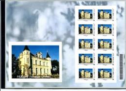France-Montimbramoi - Feuille De 10 Timbres Horiz.-lettre Monde 20g (chateau Cazalet à Pessac-33 ) - Personalized Stamps (MonTimbraMoi)