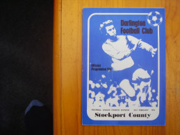 FOOTBALL 1976 DARLINGTON V STOCKPORT COUNTY PROGRAMME For FOOTBALL LEAGUE 4TH.Division. - Sports