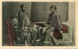 INDE(TYPE) JOUEUSE DE CARTES A JOUER - Inde