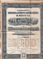 MEXIQUE Compania Bancaria De Fomento - Action 1906 Sociète Foncière Du Mexique  6000 - Shareholdings