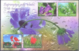 2014. Turkmenistan, Flowers, S/s, Mint/** - Turkmenistán