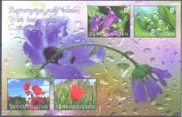 2014. Turkmenistan, Flowers, S/s, Mint/** - Turkménistan