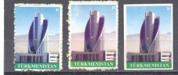 2008. Turkmenistan, Definitives, Architecture, 2v Perforated + 1v Imperforated,  Mint/** - Turkménistan