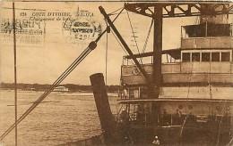 COSTA D'AVORIO S.C.Q.A. - IL CARICO DELLE NAVI. BELLA CARTOLINA DEL 1923 - Costa D'Avorio