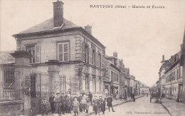 Aw - Cpa RANTIGNY (Oise) - Mairie Et Ecoles (animée) - Rantigny