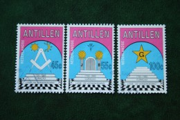 200 Jaar Loge De Vergenoeging NVPH 802-804 1985 Gestempeld / Used  NEDERLANDSE ANTILLEN  NETHERLANDS ANTILLES - Curaçao, Nederlandse Antillen, Aruba