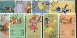 Bhutan 1964 Costumes Set Used 2016 Scott Value $6.05 - Bhutan