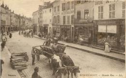 REMIREMONT GRANDE RUE DECHARGEMENT DU BOIS - Remiremont