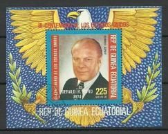 GUINEA EQUATORIAL 1975 Block USA President Gerald Ford O - Equatoriaal Guinea