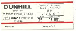 Antwerpen 1993 / Spaanse Rijschool Wien Cheval Paard Horse / Dunhill Cigarette Sigaret Cigaret - Tickets - Vouchers
