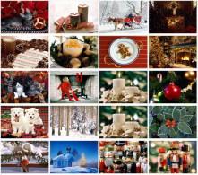 20 Postcards Of Merry Christmas Xmas Santa Holiday Winter Life, Postkarte Carte Postale - Kerstmis