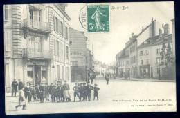 Cpa Du 88  Saint Dié  -- Rue D' Alsace , Vue De La Place St Martin    DEC15 01 - Saint Die