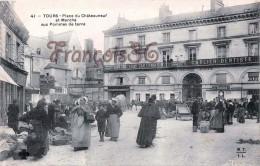 (37) Tours - Place Du Châteauneuf Et Marché Aux Pommes De Terre - Legay Tailleur Carlier Dentiste - 2 SCANS - Tours