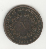 10 Réis Portugal 1851 Maria II - Portugal