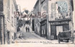 (37) Châteaurenault - Rue Pierre Moreau - Buvette Du Centre - 2 SCANS - Andere Gemeenten