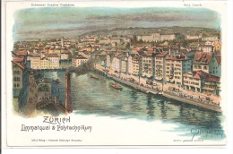 ZÜRICH Limmatquai Polytecnikum, Carte Précurseur, Illustrateur: Steinmann - ZH Zurich