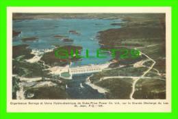 LAC ST-JEAN, QUÉBEC - BARRAGE & USINE HYDRO-ÉLECTRIQUE DE DUKE-PRICE POWER CO LTD SUR LA GRANDE DÉCHARGE - PECO- - Quebec