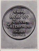 Sammelbild Adolf Hitler Und Sein Weg Zu Großdeutschland - Gedenkmedaille 1934-1938 - Austria Tabakwerke (20728) - Other Brands