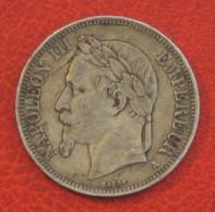 Pièce De 5 Francs Napoléon III Empereur 1868 A  En TTBE - Argent 900/1000 Pesée à 24,9gr - J. 5 Francs