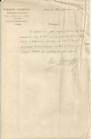 PARIS ETIENNE CHARAVAY ARCHIVISTE PALEOGRAPHE  LETTRE ENTETE  ANNEE 1897 - Unclassified