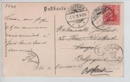 TP Germania S/CP De Malmedy Canton De L'Est C.Xhoffraix 6/8/1908 V.Liège Réexpédiée à Ostende PR2441 - Postmark Collection
