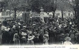87. HAUTE-VIENNE - LAURIERE. Inauguration Du Monument Au Général Thoumas (26 Octobre 1913). - Lauriere