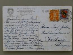 SUISSE / SCHWEIZ / SWITZERLAND // 1922, Karte, 20Rp. PRO JUVENTUTE 1921 + 5Rp. Tellknabe => DEUTSCHLAND - Lettres & Documents