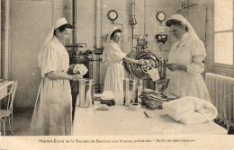 CPA - PARIS (75) - Vue De La Salle De Stérilisations De L'Hôpital-Ecole De La Société De Secours Aux Blessés Militaires - Santé, Hôpitaux
