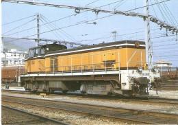 Nº216 POSTAL DE ESPAÑA DE UNA LOCOMOTORA DIESEL 63.830 EN PORTBOU (TREN-TRAIN-ZUG) AMICS DEL FERROCARRIL - Trenes