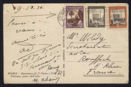 VATICAN - VATICANO / 1936 CARTE POSTALE POUR LA FRANCE (ref 7106) - Lettres & Documents
