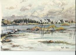 29 Pont Lorois Aquarelle Originale De Robert Lepine - Altri Comuni
