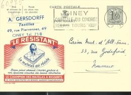Publibel Obl. N° 1578 ( Matelas: LE RESISTANT; Lion, Félin) Obl: Ciney + Belle Flamme; 15/12/1958 - Stamped Stationery