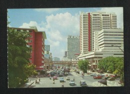 Singapore Picture Postcard New Bridge Road Very Busy Street View Card - Singapour