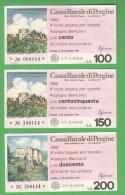Pergine Trento Mini Assegni 1977 - [10] Cheques En Mini-cheques